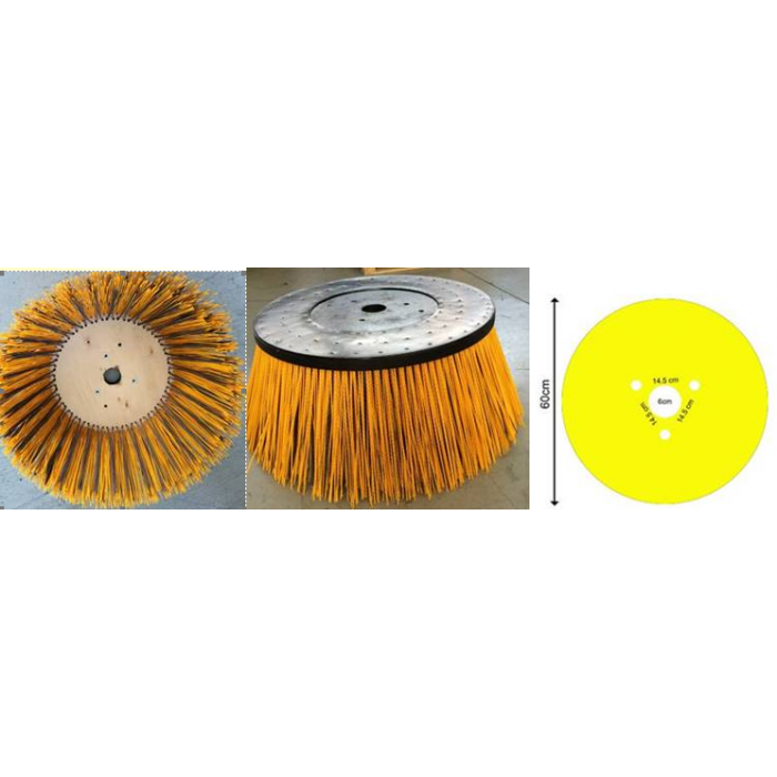 "Part No TS761211 Tennant Disk Brush Side 32"" OD FTW Poly + Wire"