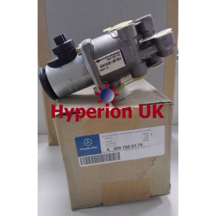 Part No A0007600378 Mercedes-Benz Valve Original