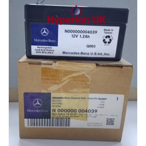 Part No N000000004039  Mercedes Benz Battery 12v 1.2Ah
